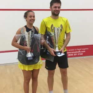 National Racketball Champion, Mike Harris Exeter