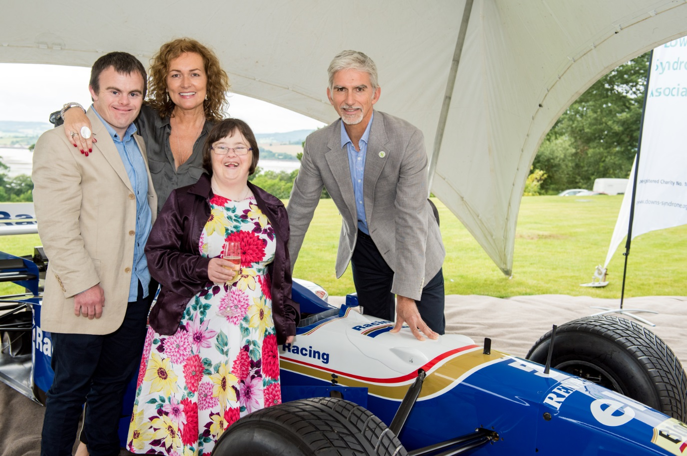 michael caines, damon hill, exeter golf and country club, downs syndrome charities, golf day