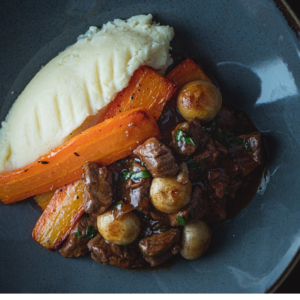 Beef Bourguignon, wear park restaurant, exeter golf and country club
