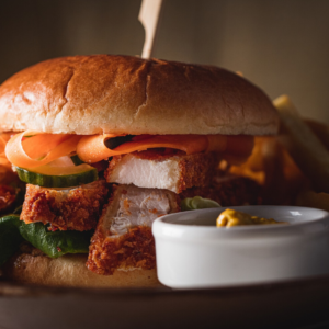 katsu chiken burger, wear park restaurant, exeter golf and country club