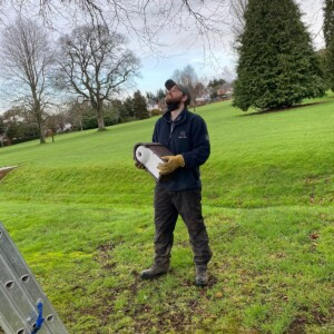 exeter golf and country club, golf course, greenkeepers, hollow coring, golf greens,