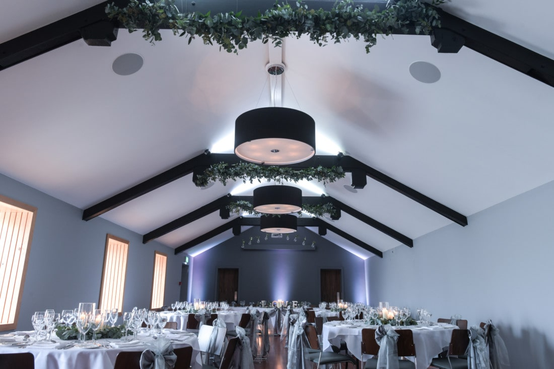 Function room view at Exeter wedding venue in Devon