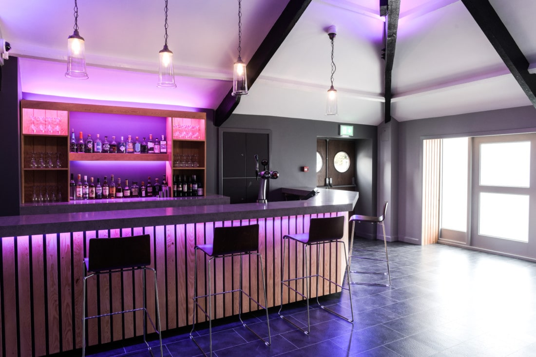 Bar at Exeter wedding venue in Devon