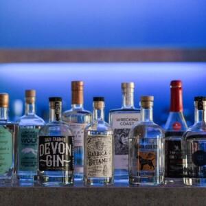 Gin tasting at Exeter wedding venue in Devon