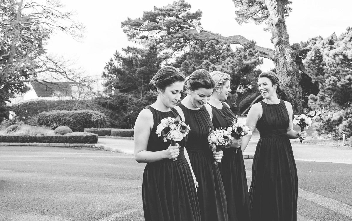 Bridesmaids at beautiful Exeter wedding venue in Devon