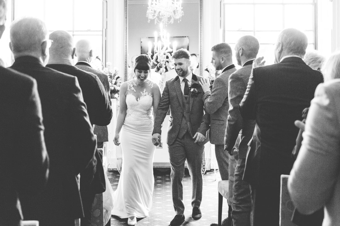 couple after getting married at Exeter wedding venue