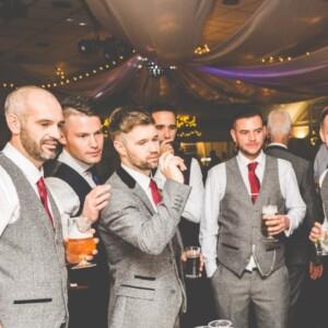 groomsman at wedding venue in Exeter