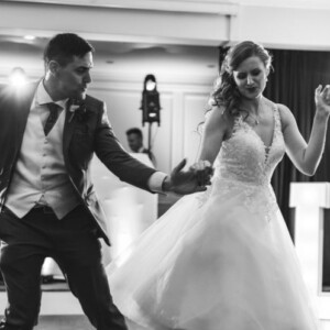 couple dancing at wedding venue in Exeter