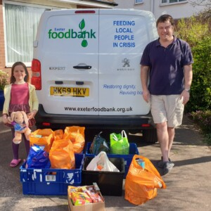 exeter foodbank, foodbank, exeter golf and country